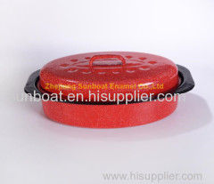 mini size cast iron cookware enamel oval roaster