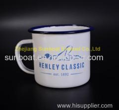 home appliance drinkware enamel mug 10*10cm cast iron enamel cup