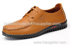 genuine leather mens falt shoes