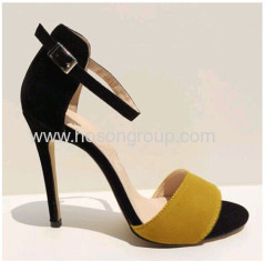 New arrival pretty open toes buckle high heel sandals
