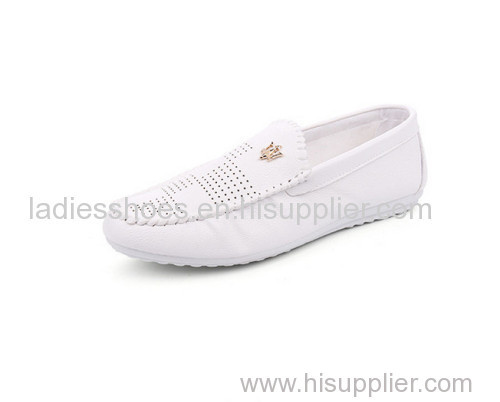 Mens pull on business flat fashion shoes