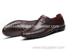 genuine leather business flat shoes