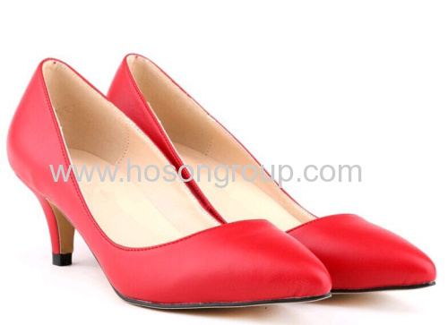 New style pointed toe mid heel shoes