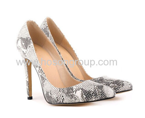 New style multi snake texture high heel dress shoes