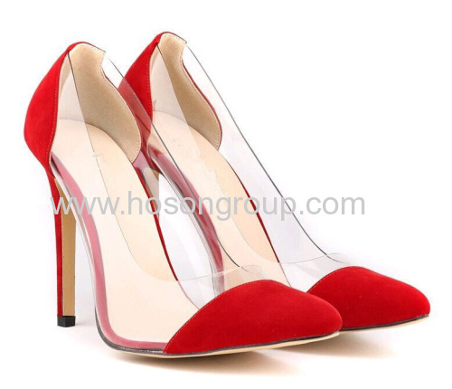 New fashion multi color pointed toe kid skin stiletto heel shoes