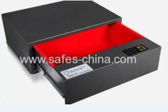 Quick access unlocking Sliding furniture drawer safe with password lock and also finger scanner