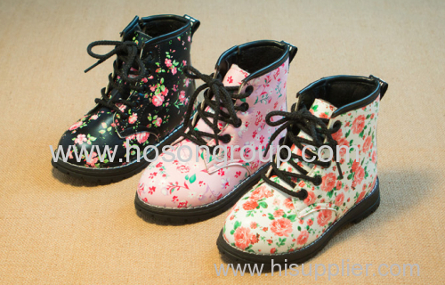 New Style Floral Pattern Girl Shoes