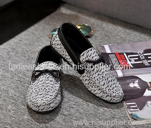 Casual canvas flat men shoes