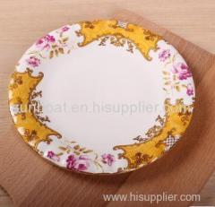 popular party plate cast iron enamel dinner plate