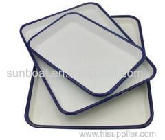 cast iron enamel baking tray