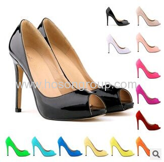 New fashion peep toe basic style high heel dress shoes