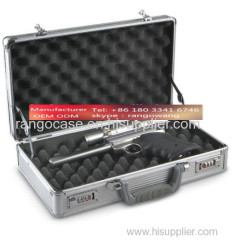 Tattoo Metal Aluminum Carrying Case With Foam Cutting
