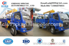 factory supply best price of FOTON forland RHD 4x4 2tons dump truck with crane