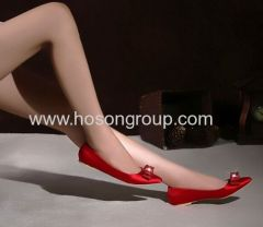 Fashion red bowtie pointed toe flat wedding shoes