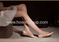 New fashion pretty champagne flat heel wedding pump shoes