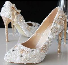 nueva abalorios estilo y cadenas de zapatos de boda de tacón de aguja