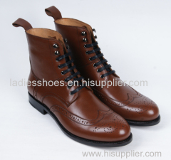 New Office Lace up Fashion Flat Men Boots