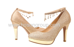 New fashion buckle glittering high heel wedding shoes