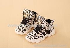 Leopard Print Children Boots
