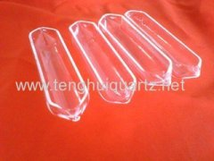 quartz glass transparent quartz boat