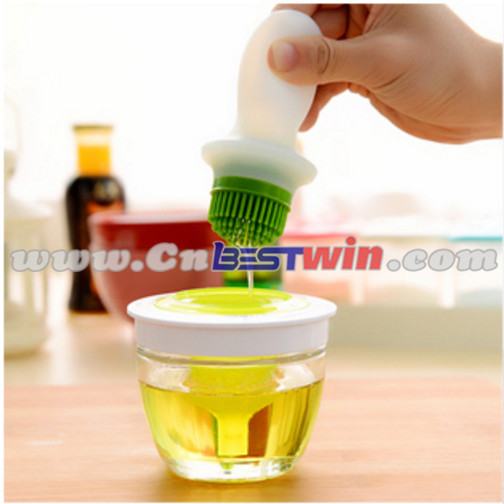2016 new kitchen gadgets basting silicone bottle brush silicone oil