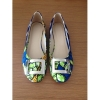 New style African Printed Fabric flat shoes