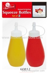 2 Pack Squeeze Bottles (red and yellow)