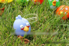Small Birds Rubber Dog Toy