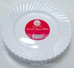 """10-1/2"""" Plastic Plate (18 pcs/pk)"""