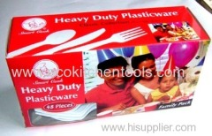 48 pcs Heavy Duty Plasticware