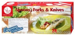 24 pcs Spoons Forks and Knives