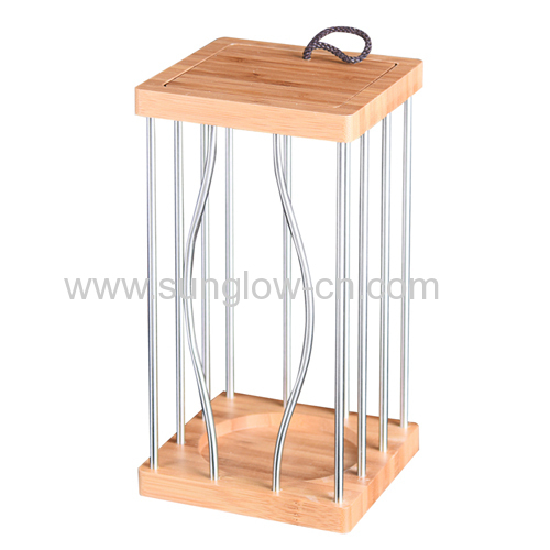 Wine Wooden  Box With Stainless steel pipe for Windows