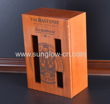 Wine Wooden  Box With Windows