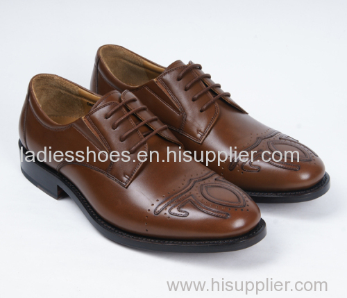 Fashion brown men business leather shoes