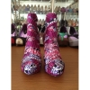 New style African printed fabric pointed toe high heel boots