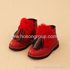 Children Ankle Boots With Tassels