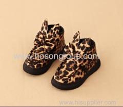 Leopard Print Kids Boots