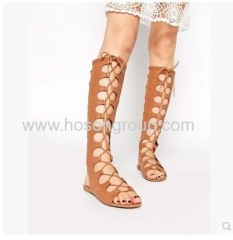 New style gladiator sling back lace-up flat sandals