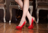 New style red high heel wedding dress shoes