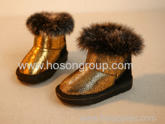 Warm Children Boots With Big Fur