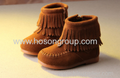 Warm Girls Boots With Tassels