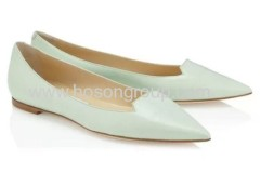 New basic fashion pointed toe flat dress shoes