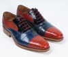 three color flat business fashion customized men shoes