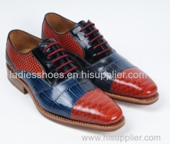 Lace up flat business fashion men shoes