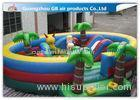 Waterproof Round Blow Up Jumping Castle Bouncy Inflatable For Kids / Adults
