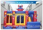 Funny Safety Childrens Inflatable Bouncy Castle With Slide Combo Customized