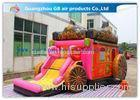 Giant Outdoor Car Inflatable Princess Bouncy Castle With Slide For Children Toys