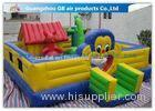 Cartoon Inflatable Bouncy Castle Combo / Inflatable Trampoline For Kids