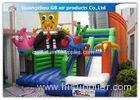 Cartoon Theme Funny Inflatable Bouncy Castle Slide Spongebob for Boys / Girls