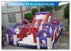 Outdoor Inflatable Bounce House Games Double Slides For Business Hire